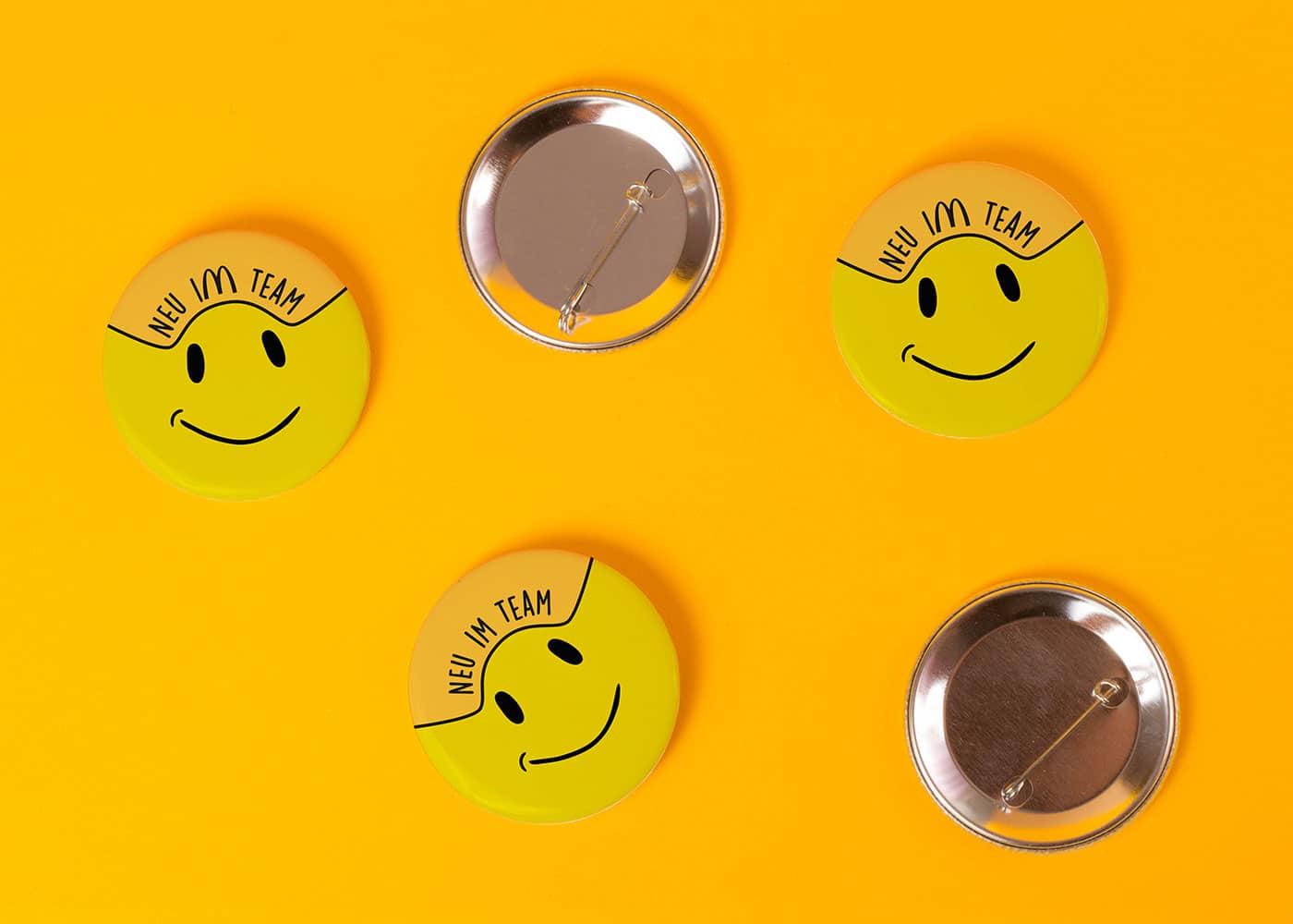 Bedruckte Buttons