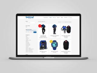 Webdesign Eddiving mit Webshop