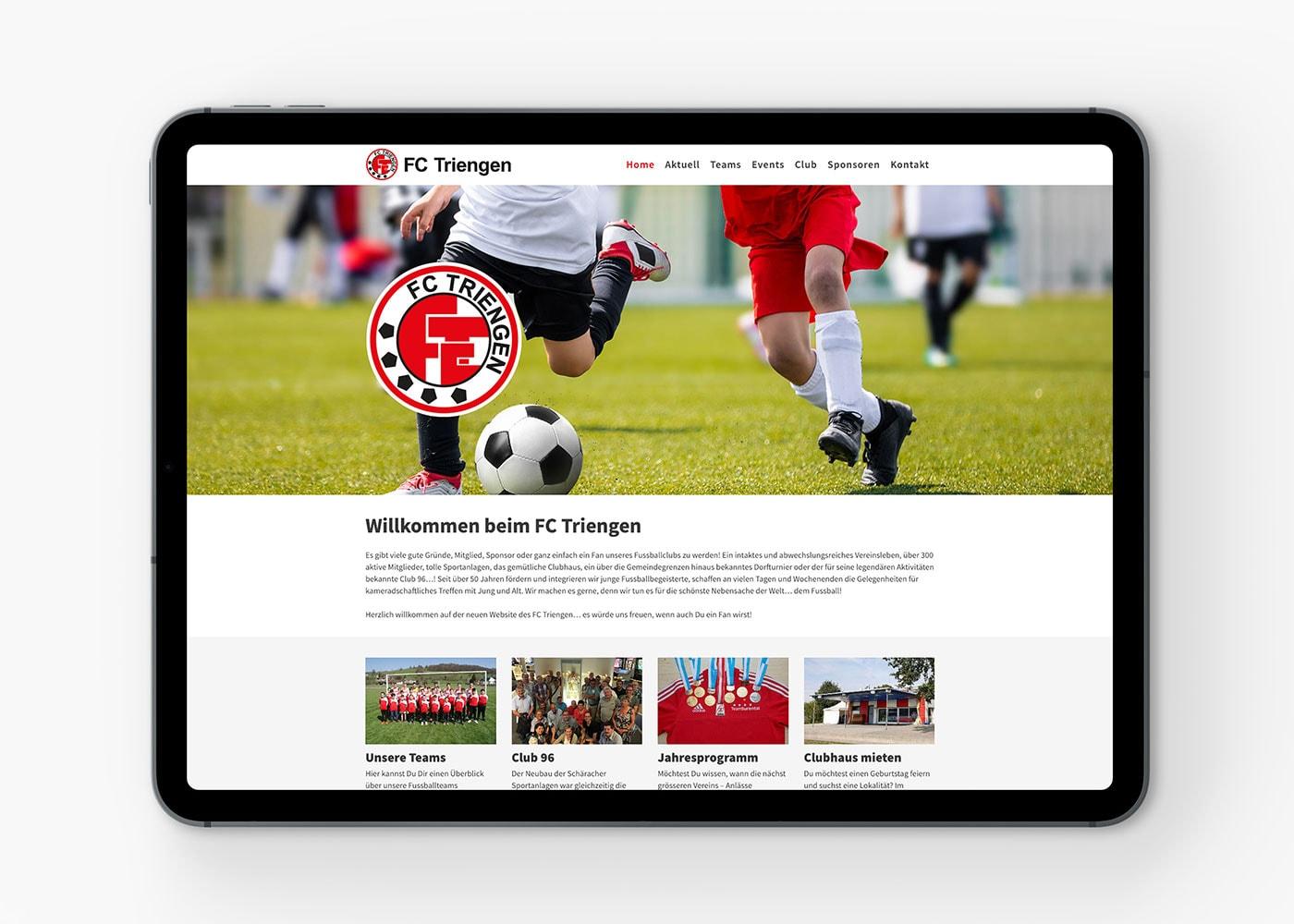 Webseite FC Triengen