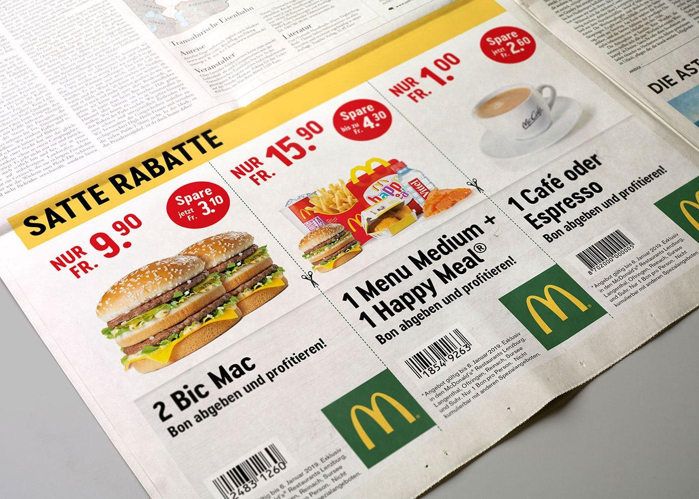 Inserat McDonald's
