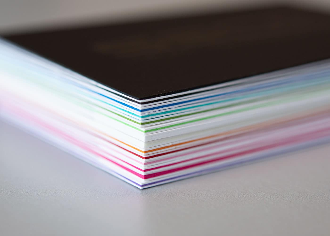 Visitenkarte mit Farbkern