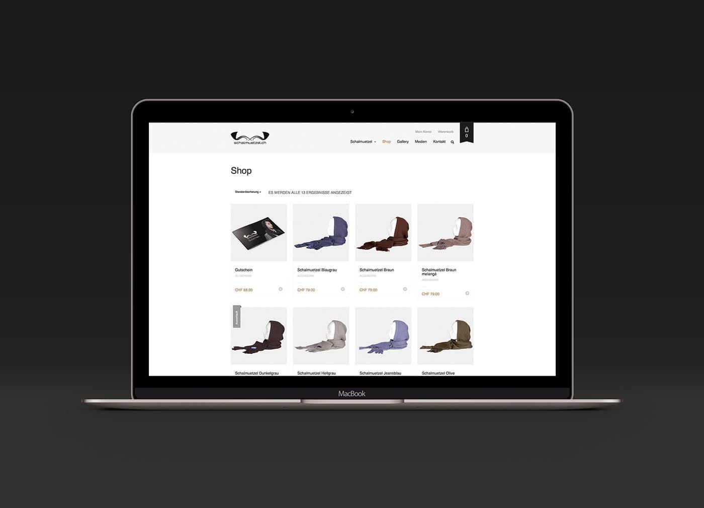 Schalmützel Webseite und Webshop