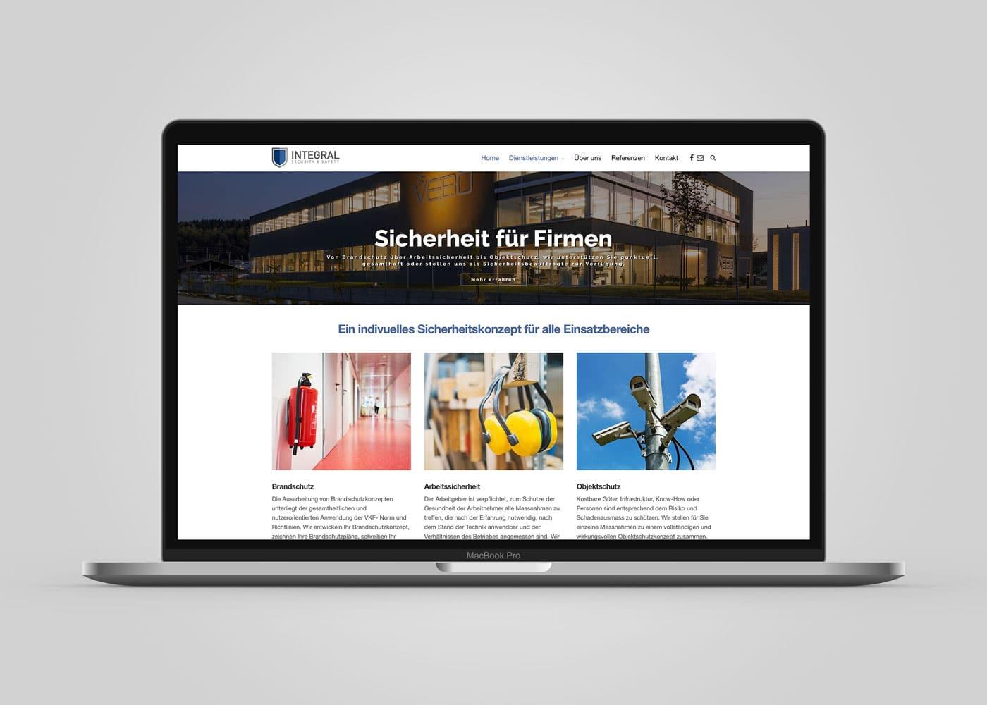 Webseite Sicherheit-Konzept