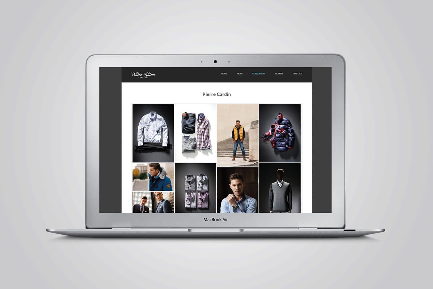 Whiteshine Modegeschäft Webseite